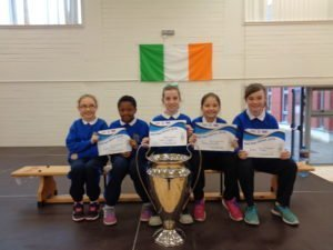 Members of The 4th Class Girls Football Team
